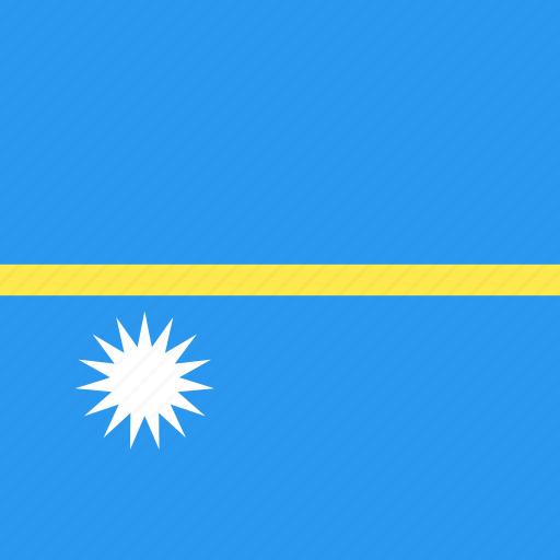 country, flag, nation, nauru icon
