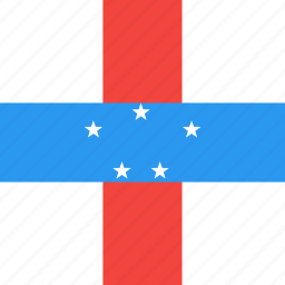 antilles, country, flag, nation, netherlands icon