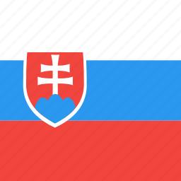 country, flag, nation, slovakia icon