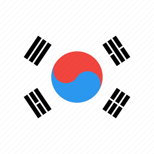 country, flag, korea, nation, south icon