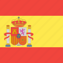 country, flag, nation, spain