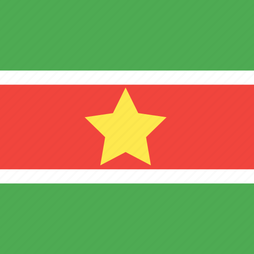 country, flag, nation, suriname icon