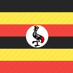 country, flag, nation, uganda icon