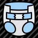 baby, diaper, pee, cloth icon