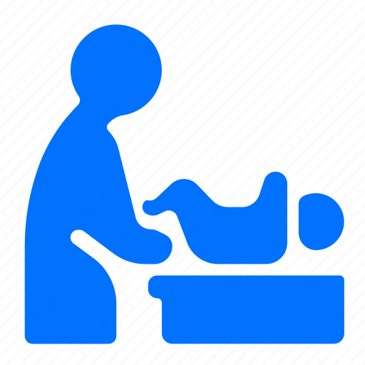 changing, diaper, table icon