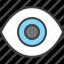 eye, view, vision