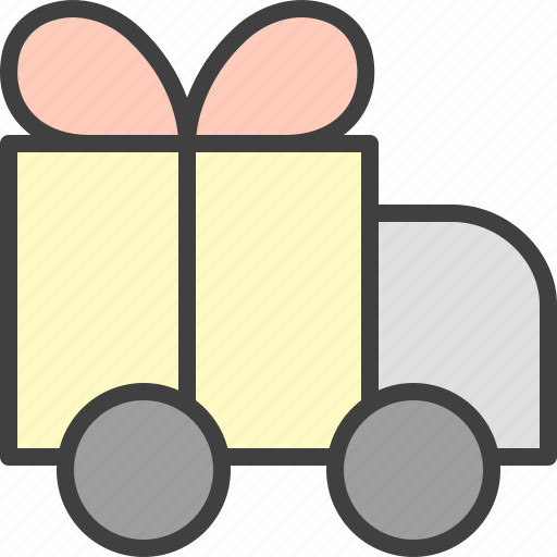 delivery, free, present, shipping, truck icon