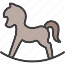 cradle, horse, rocking horse, toy, wooden horse icon
