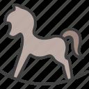 cradle, horse, rocking horse, toy, wooden horse