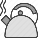boiling water, hot, kettle, teapot