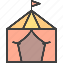 camp, circus, shelter, stall, tent icon