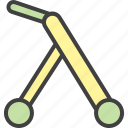 baby gurney, first steps, tolocar, toy, walker icon