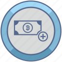 account, add, bitcoin, create, money, value icon