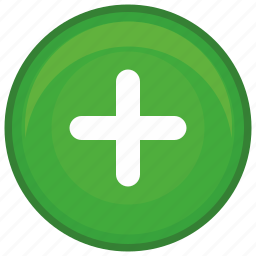 add, function, green, math, plus, round icon