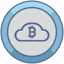 bitcoin, blockchain, cloud, money icon