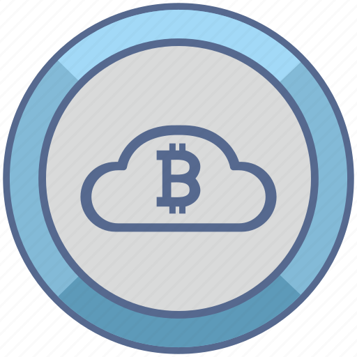 bitcoin, blockchain, cloud, money icon