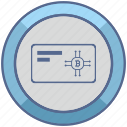 bitcoin, card, chip, payment icon