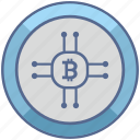 bitcoin, chip, chipset, money icon