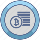 bank, bitcoin, coins, money, value icon