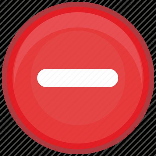 cut, erase, function, math, minus, red, round icon