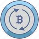bitcoin, exchange, money, transfer, value icon
