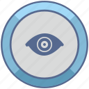 biometry, eye, identity, person, view icon