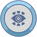 biometry, eye, identity, person, scan icon