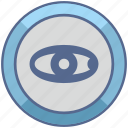 biometry, eye, scan, view icon