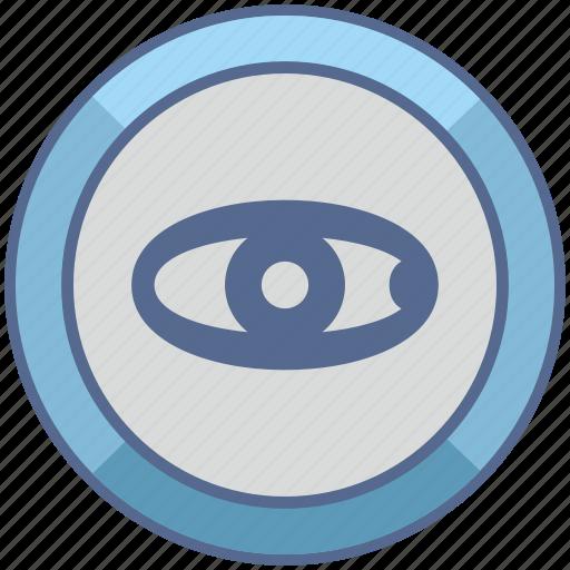 biometry, eye, scan, view icon