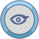 biometry, eye, left, person icon