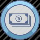 bank, bitcoin, cash, money, sum