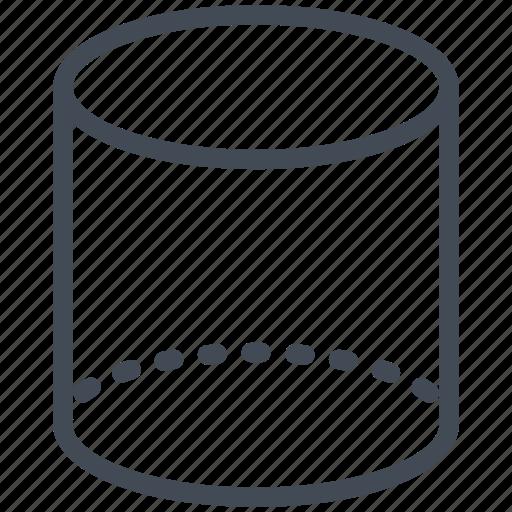 block, cylinder, geometry, mathematics, maths, wireframe icon