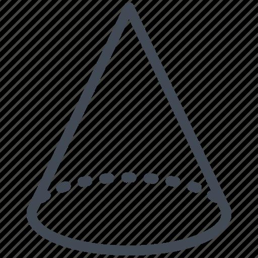 cone, geometry, mathematics, maths, wireframe icon