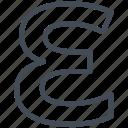 epsilon, letter, math, mathematics, sign icon