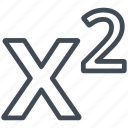 exponentiation, math, mathematics, sign