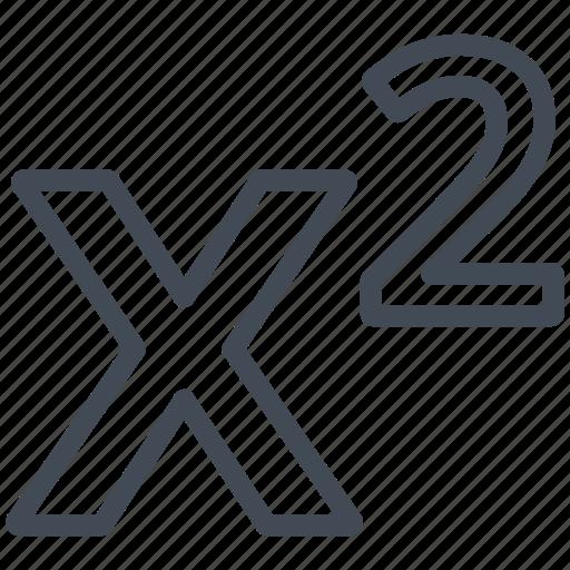 exponentiation, math, mathematics, sign icon