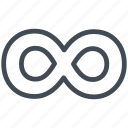 infinity, letter, math, mathematics, sign icon