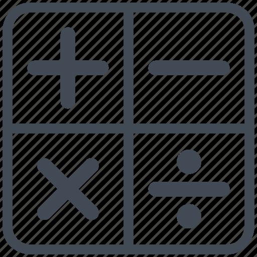 math, mathematics, sign, symbols icon