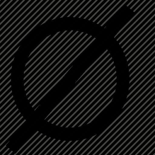 empty, expression, math, mathematical, set icon