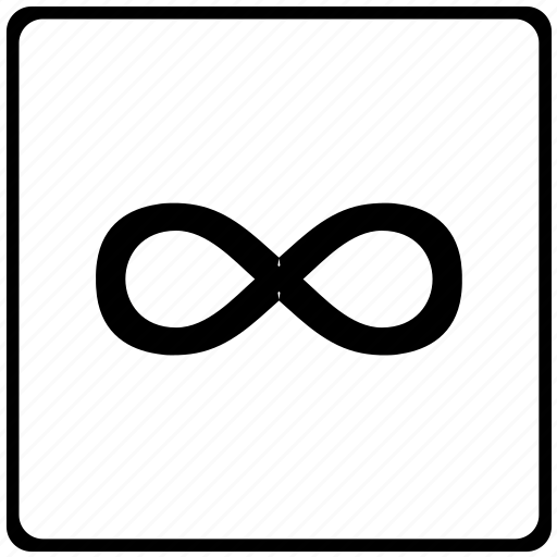 infinity, math, mathematical, sign icon