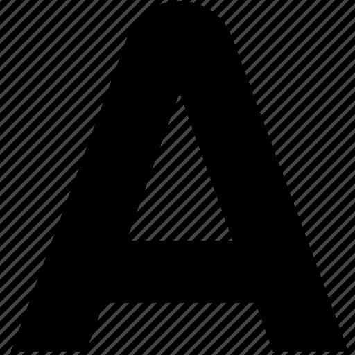 a, alfa, alphabet, greek, letter, uppercase icon