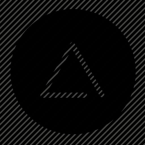 alfa, alphabet, greek, letter, round icon