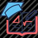 copybook, maths, formula, education icon