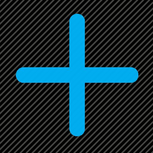 add, addition, maths, plus icon
