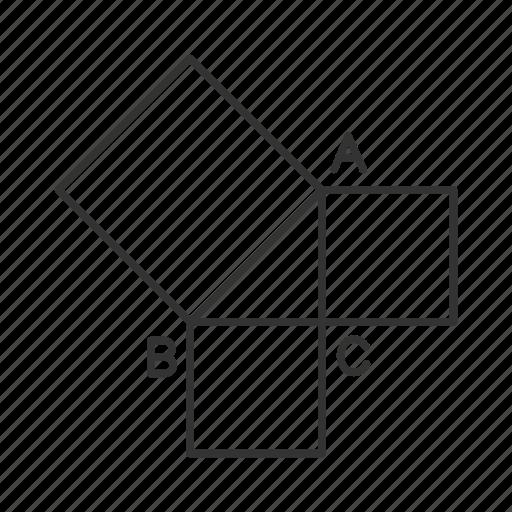 figure, geometric, geometry, maths, shape, square, triangle icon