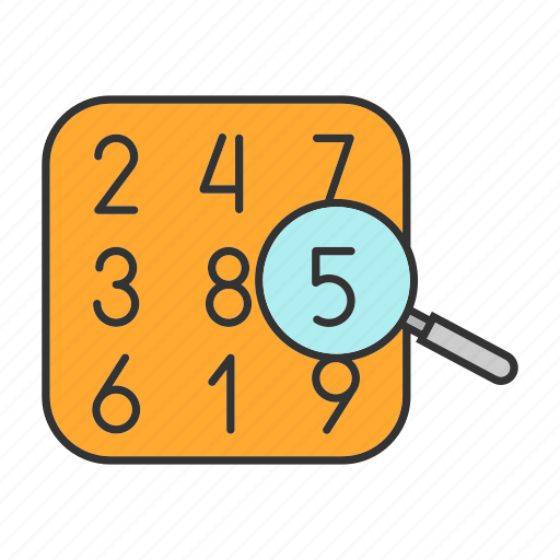 algebra, arithmetic, calculate, magnifier, maths, numbers, theory icon