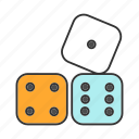 cube, dice, dot, gambling, maths, probability, theory icon