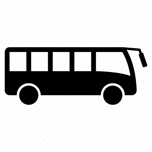 bus, bus stop, transport, vehicle icon