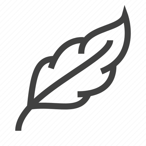 feather, light, soft, weight icon