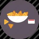 chips, dip, food, meal, nachos, salsa